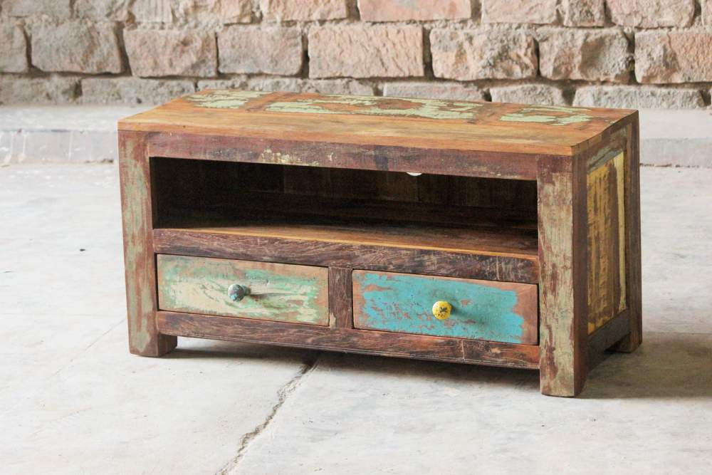 Mary Rose Upcycled 2 Drawer Tv Unit Little Tree Furniture